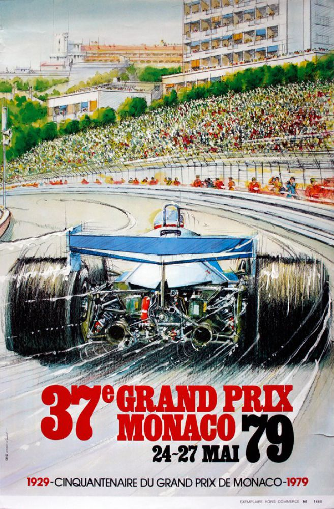 Pin On Monaco Grand Prix Posters From 1929 Present