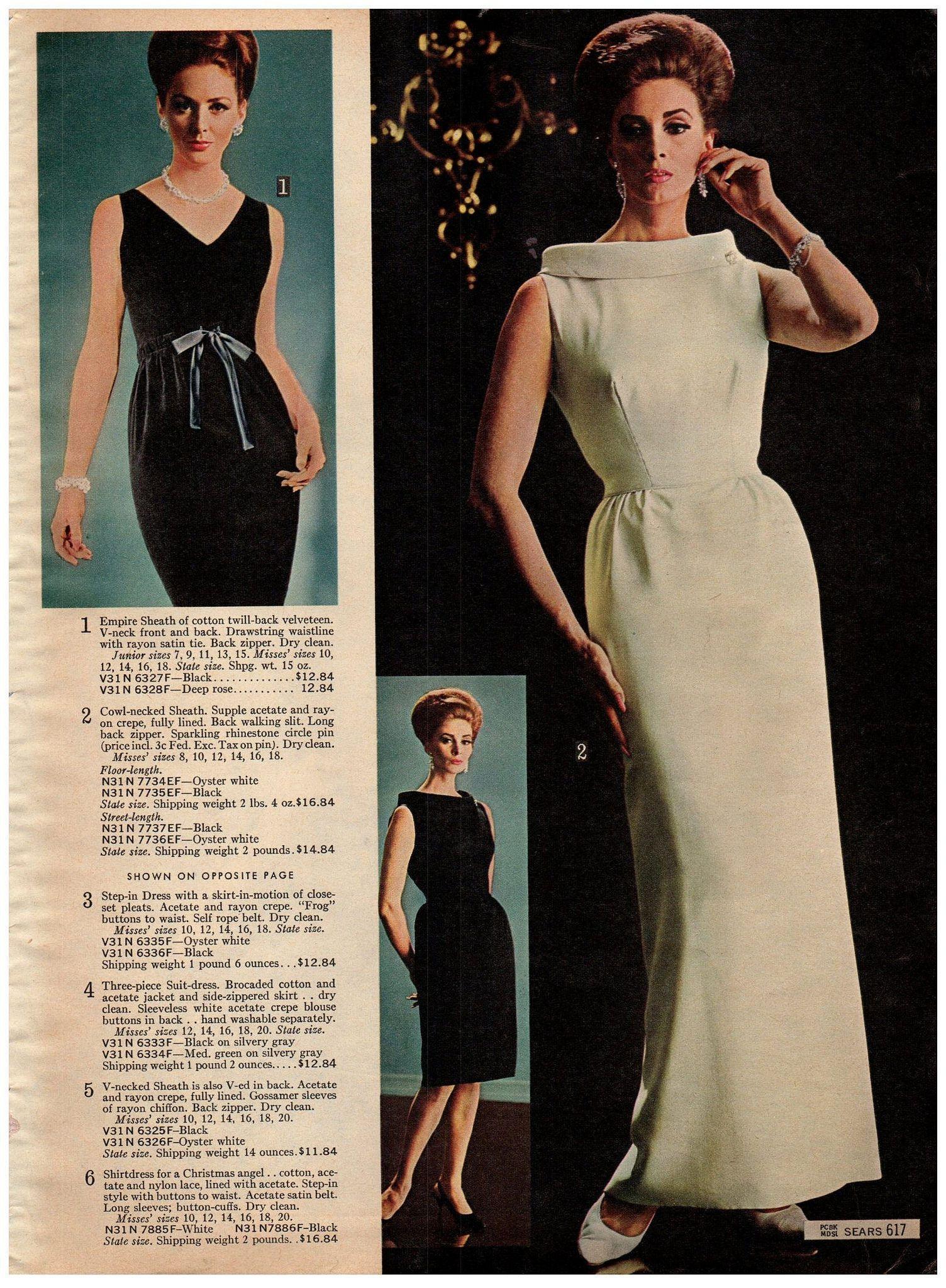 1964 Sears Xmas 617 Evening Dress Fashion 1960s Dresses Evening Dresses Vintage [ 2048 x 1504 Pixel ]