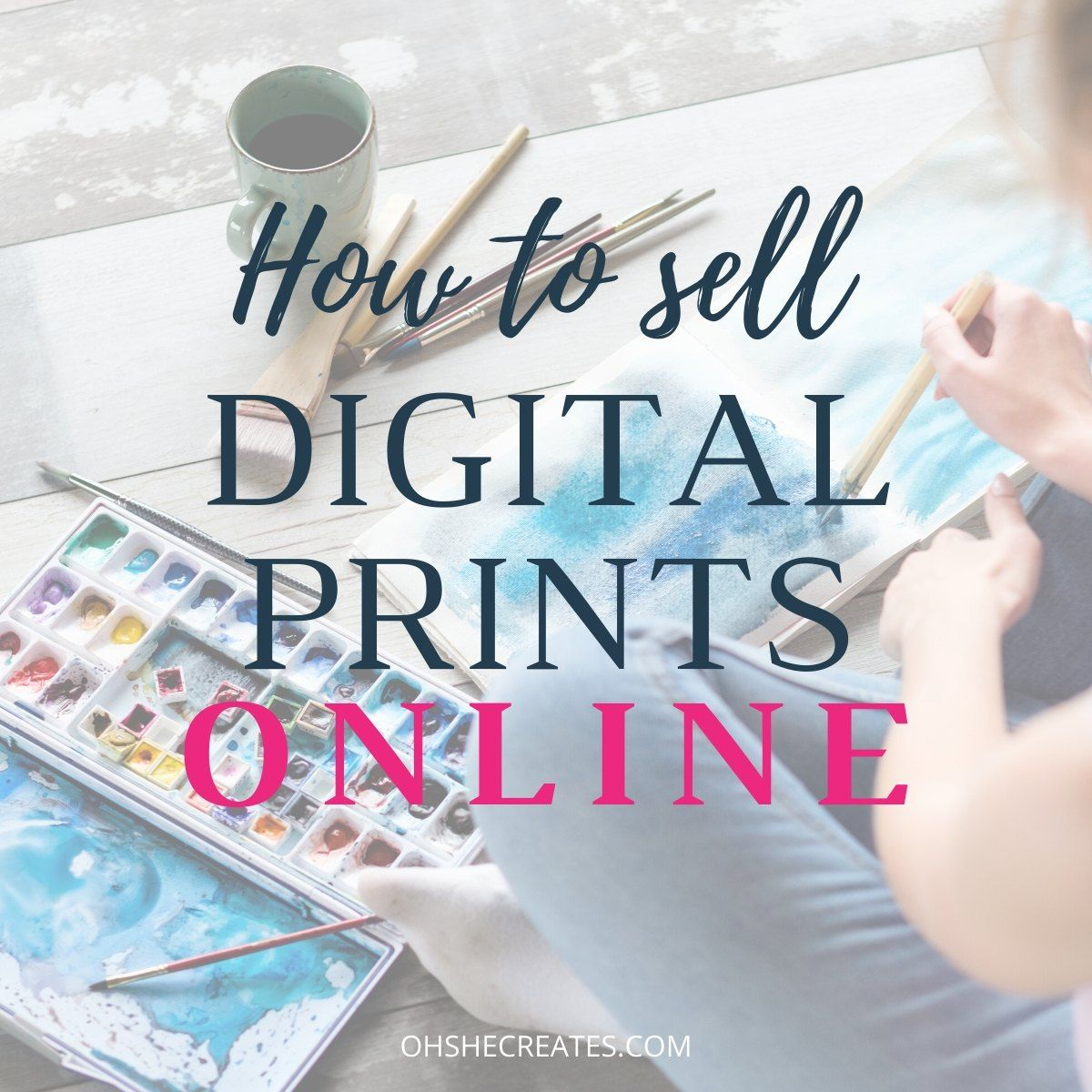 How To Sell Art Online And Make Money Selling Art Online Etsy Digital Art Things To Sell