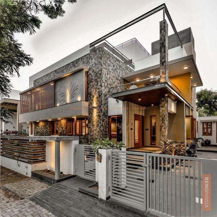 Modern Residential Exterior By Ar Sagar Morkhade: House Front Wall Colour