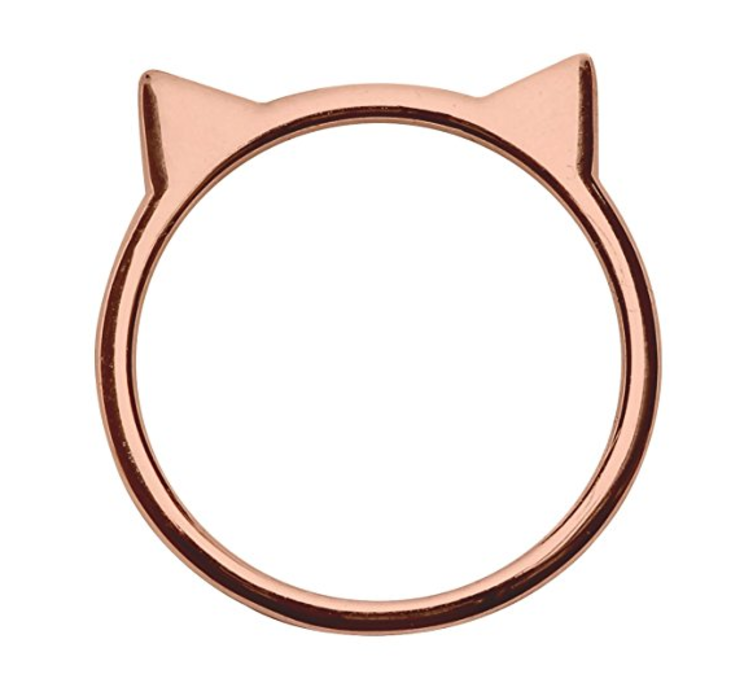 rose gold cat ring