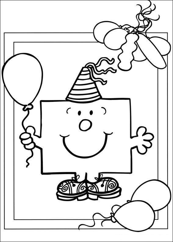 kleurplaat Verjaardag - Mr Men en Litltle Miss | Wensjes en ...