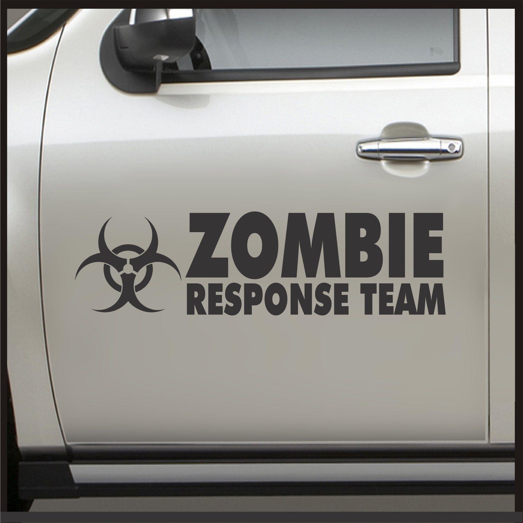 Amazon Com Set 2 Zombie Response Team Door Sticker Sticker For Jeep Decal Jdm Vinyl Car Apocalypse Automot Zombie Response Team Zombie Response Jeep Decals [ jpg ]
