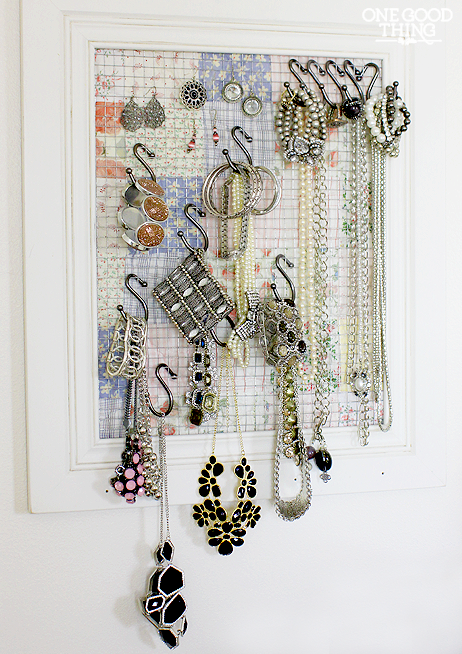 From Thread Rack To Jewelry Organizer | Frame jewelry organizer ...