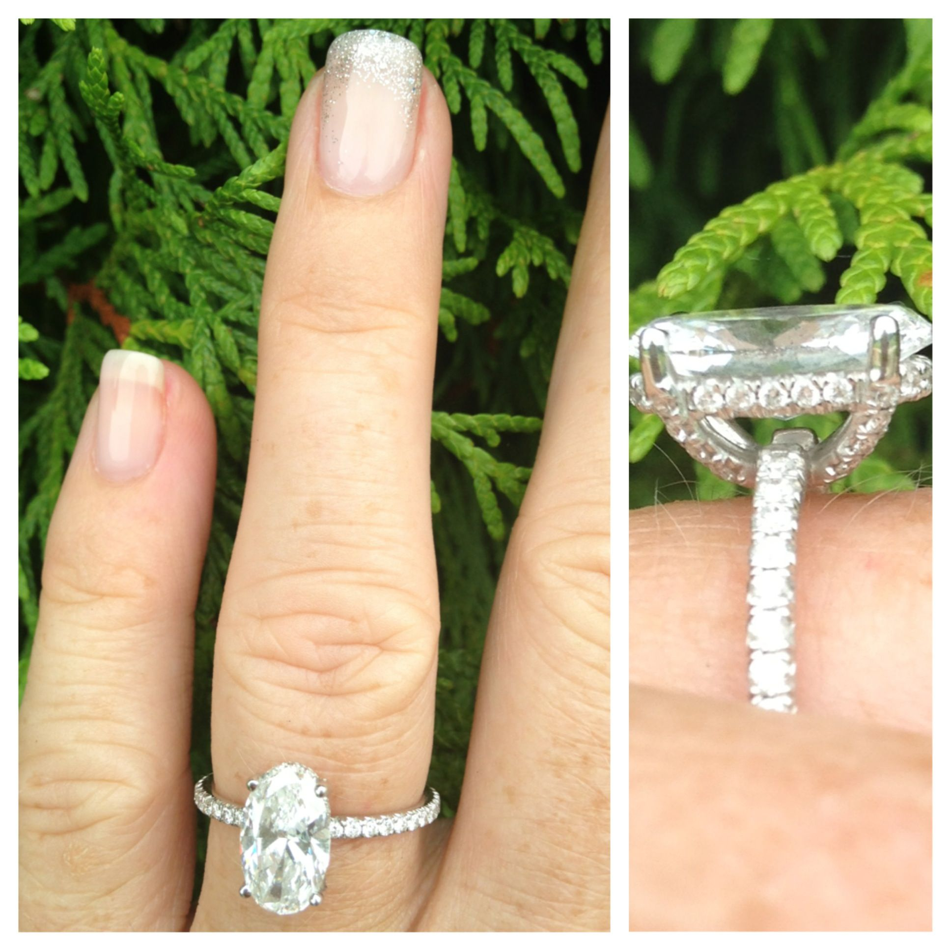 My oval engagement ring custom 2ct