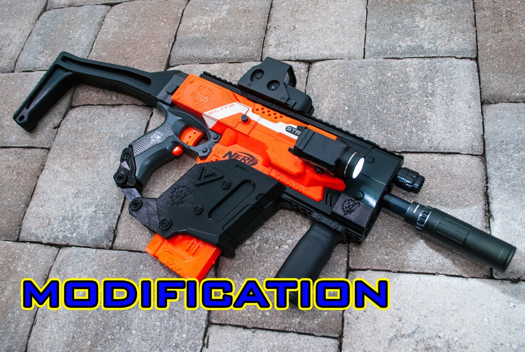 #VR #VRGames #Drone #Gaming [MOD] Nerf Stryfe | KRISS Vector 3D Printed  Kit! #3D, assemble, assembly, Awesome, best, Blaster, Blasters, cool, coop,  coop772, ...