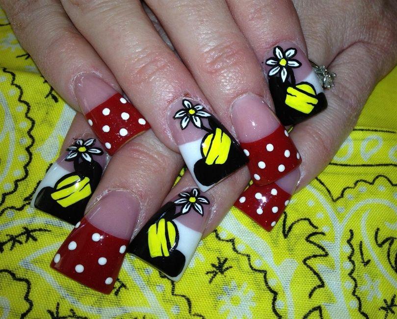 minnie mouse - Nail Art Gallery | Nails | Pinterest | Diseños de uñas