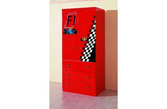 armoire 2 portes enfant formule 1 donnera la chambre de. Black Bedroom Furniture Sets. Home Design Ideas