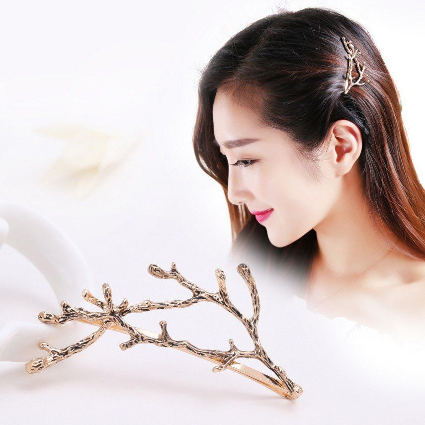 South Korea Jewelry Sianmei Alloy Side Clamping Clip Side Branches Antlers  Jewelry Fashion Personality Princess Jewelry Hairpin ac989c2214bf