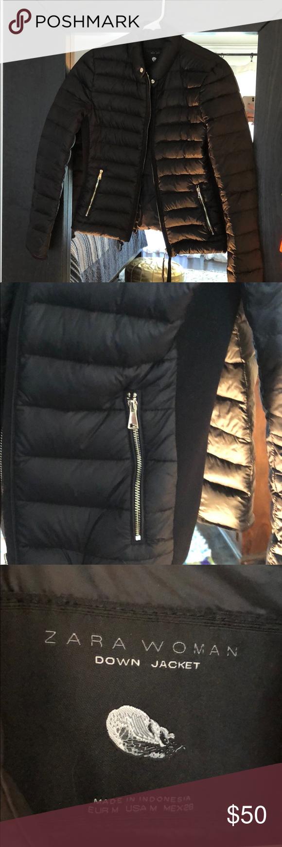 Zara Woman Fitted Down Jacket Zara Women Jackets Zara [ 1740 x 580 Pixel ]