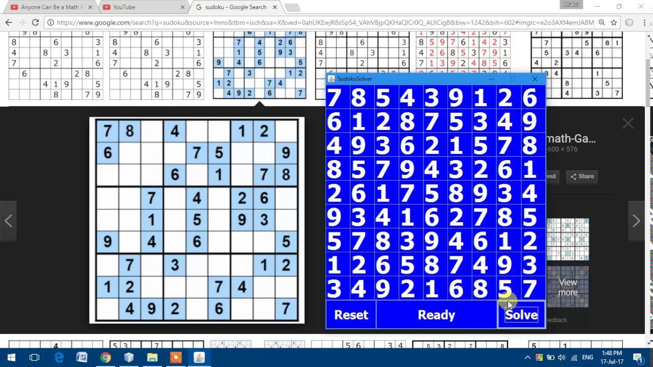Sudoku Solver in Java | Koushik | Math, Periodic table, Diagram