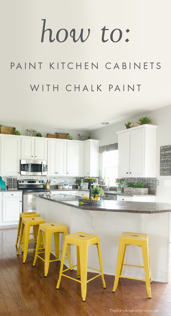 How to Paint Kitchen Cabinets with Chalk Paint   Chalk ...