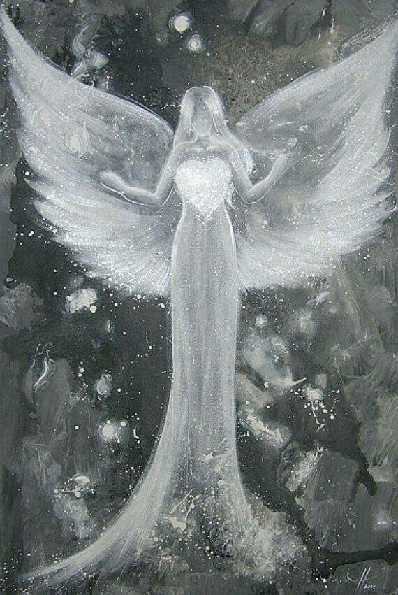 Épinglé par Océane Brodier sur Anges | Art à thème ange, Peintures d'ange, Anges et fées