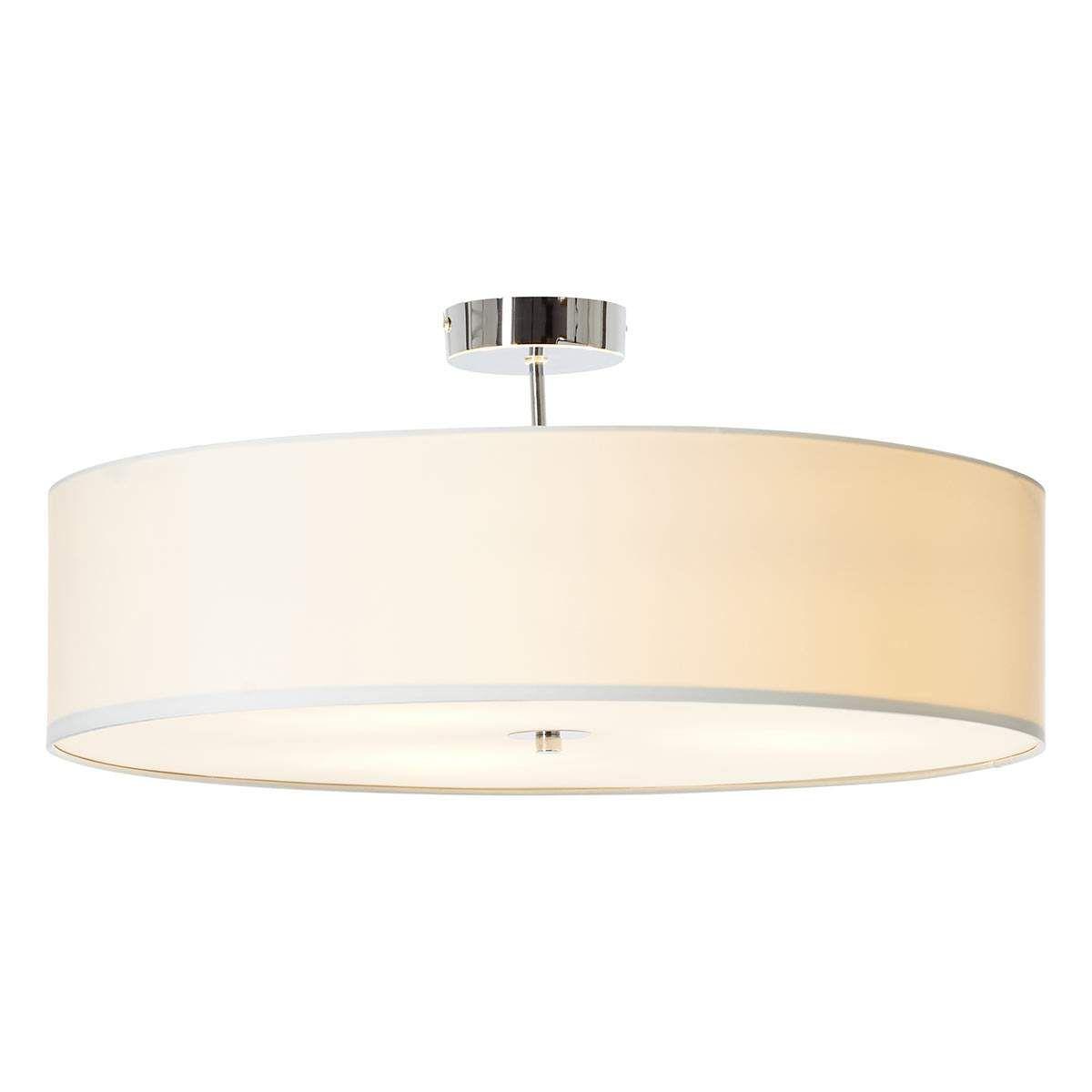 Textil Deckenlampe Andria 60 Cm Weiss Deckenlampe Lampen Und