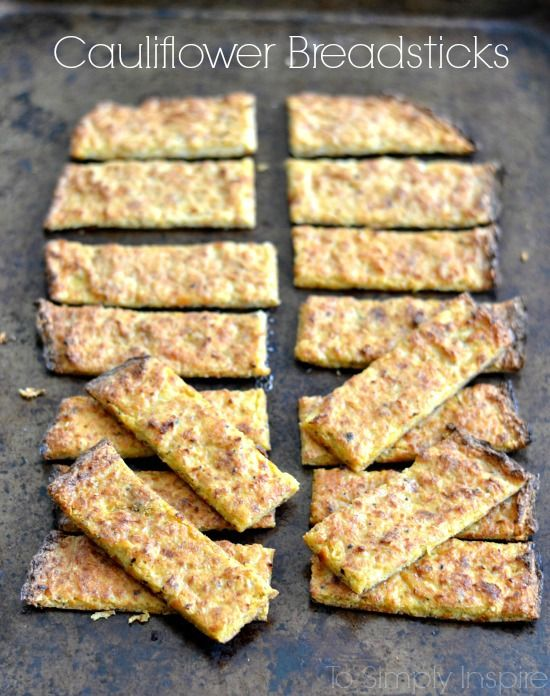 These Cauliflower Breadsticks Are A Wonderful Little Healthy Low