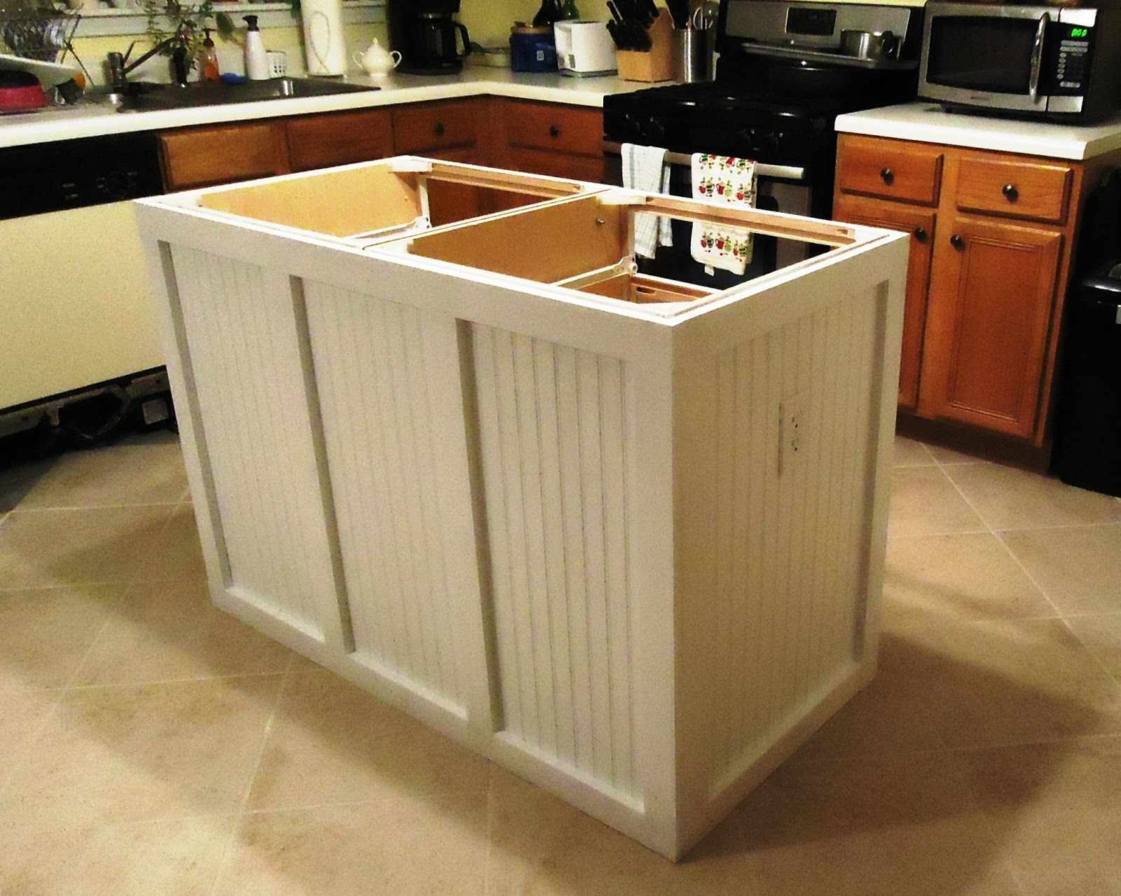 Walking To Retirement The Diy Kitchen Island Stylish Kitchen Island Diy Kitchen Island Building A Kitchen