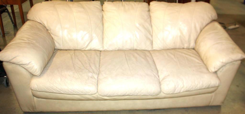 Cream Colored Leather Sofa Homemade Sofa Leather Sofa Modern