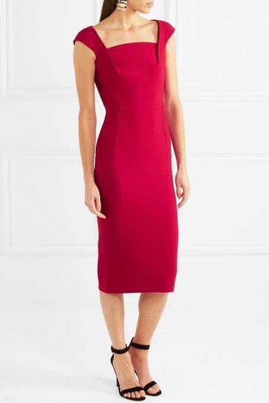 Maltock Crepe Midi Dress - Crimson Roland Mouret uX3o1rE