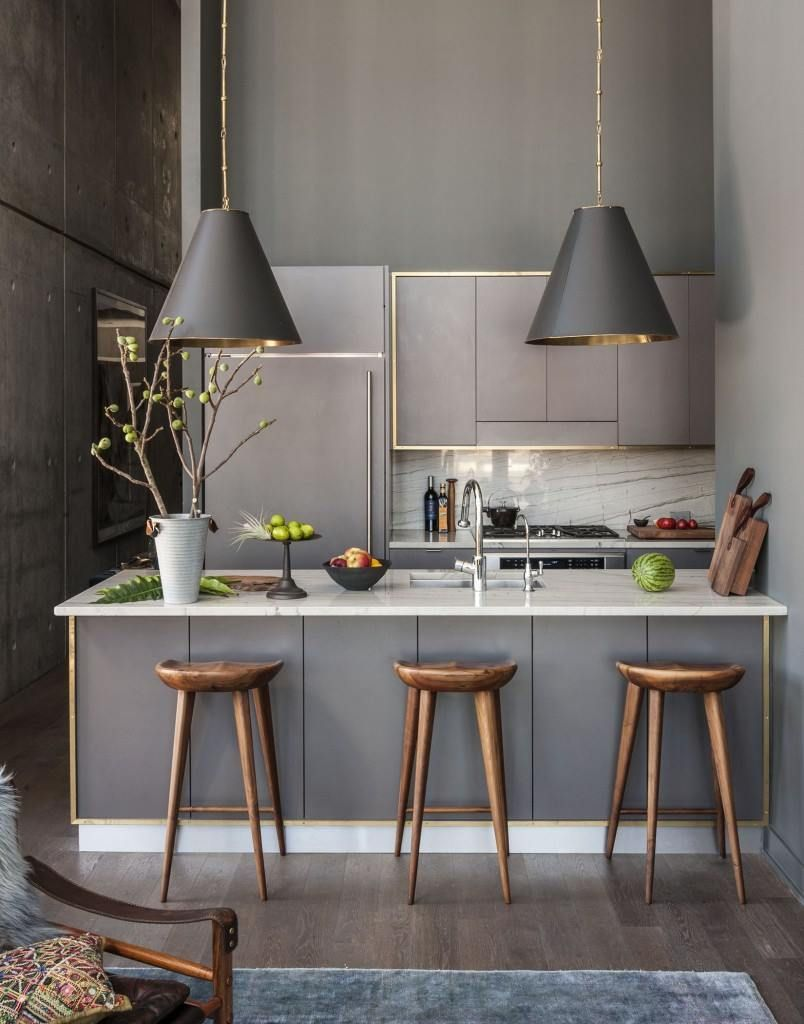 Gold gerahmte Küchenzeile | Cocina by Ger Torres | Pinterest ...
