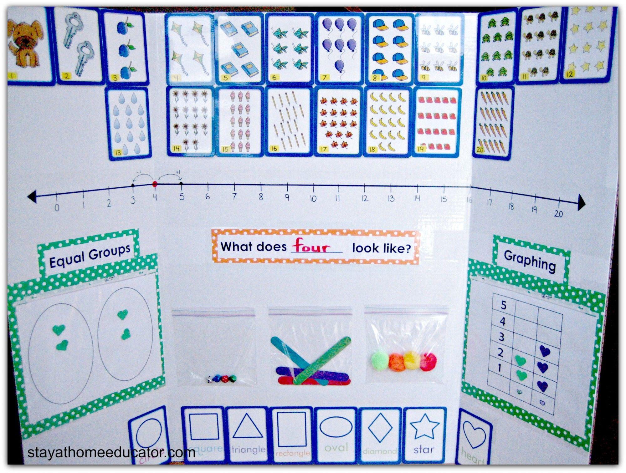 Math Concpet Board For Preschool And Kindergarten