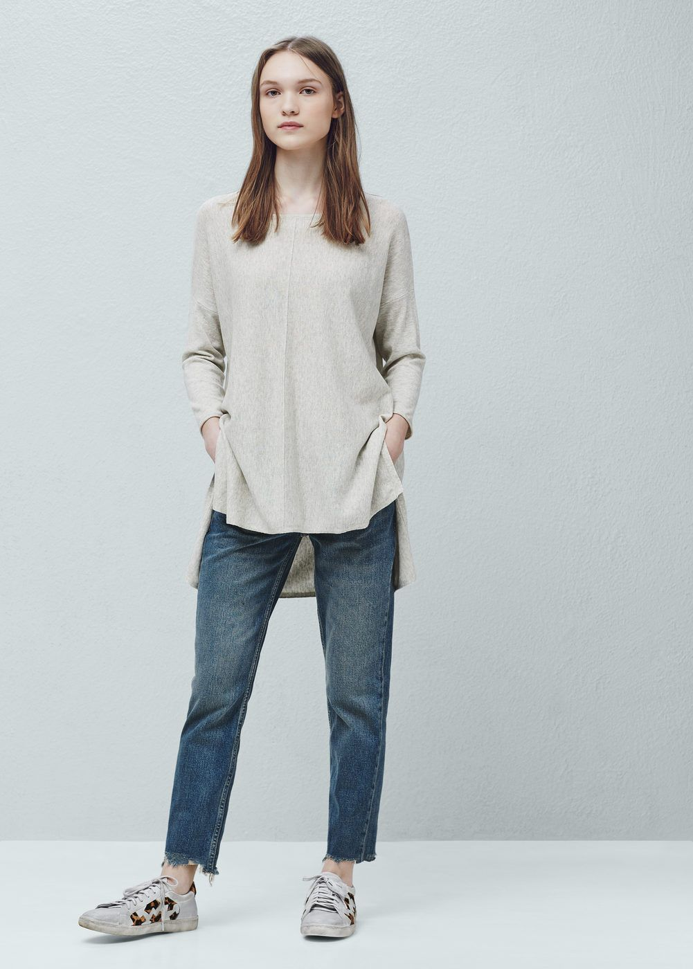 Cotton sweater - Women | Cotton sweater, Cotton and Casual chic