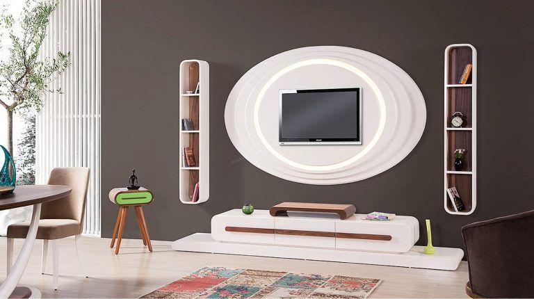 اشكال جبسيات تليفزيون ديكورات جبس امبورد شاشات قصر الديكور Tv Unit Design Modern Classic Bedroom Tv Unit