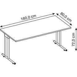 Photo of Hammerbacher Prokura desk gray rectangular HammerbacherHammerbacher