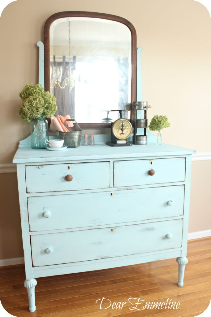 Old Pickup Blue Dresser Another Diy Chalk Paint Recipe Leg Reconstruction And My