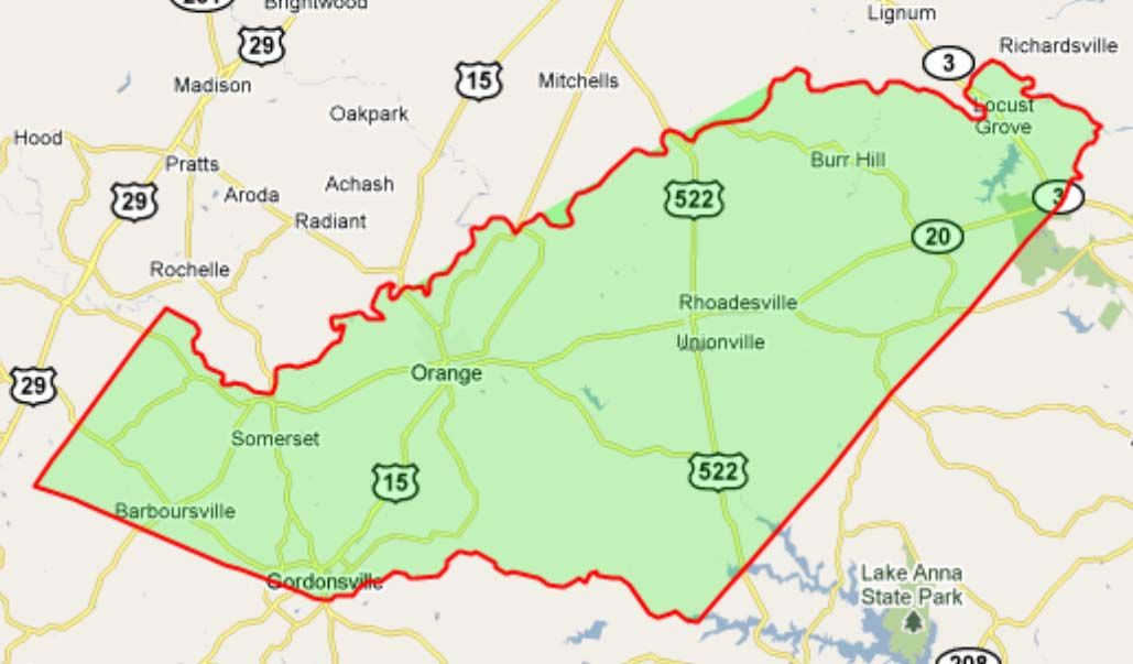Orange County Virginia Map Find Out Where Your Ancestors Came From
