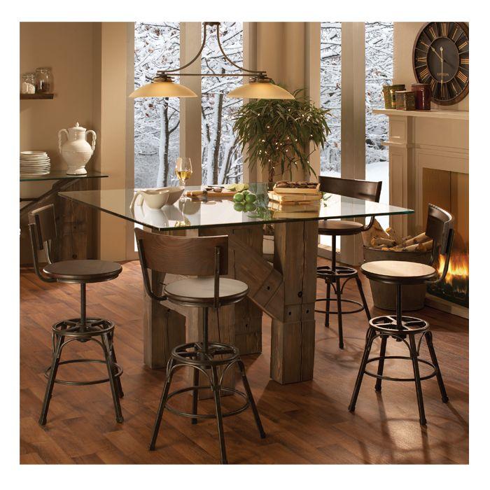 El dorado dinette table glass top dinettes dining room for Mobilia kitchen table