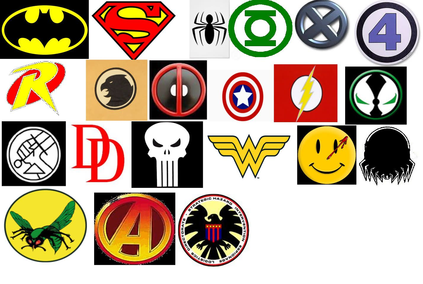 SUPERHERO LOGOS LIST AND NAMES image galleries - imageKB ...