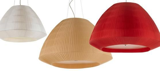 Liberty pendant in white, straw and red by Telbix