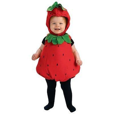 63d0010c4205 Strawberry Costume Baby   Toddler Fruit Halloween Fancy Dress ...