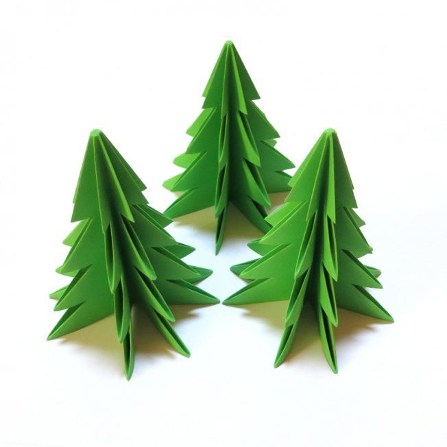 sapins de no l en origami sapin de noel en papier. Black Bedroom Furniture Sets. Home Design Ideas