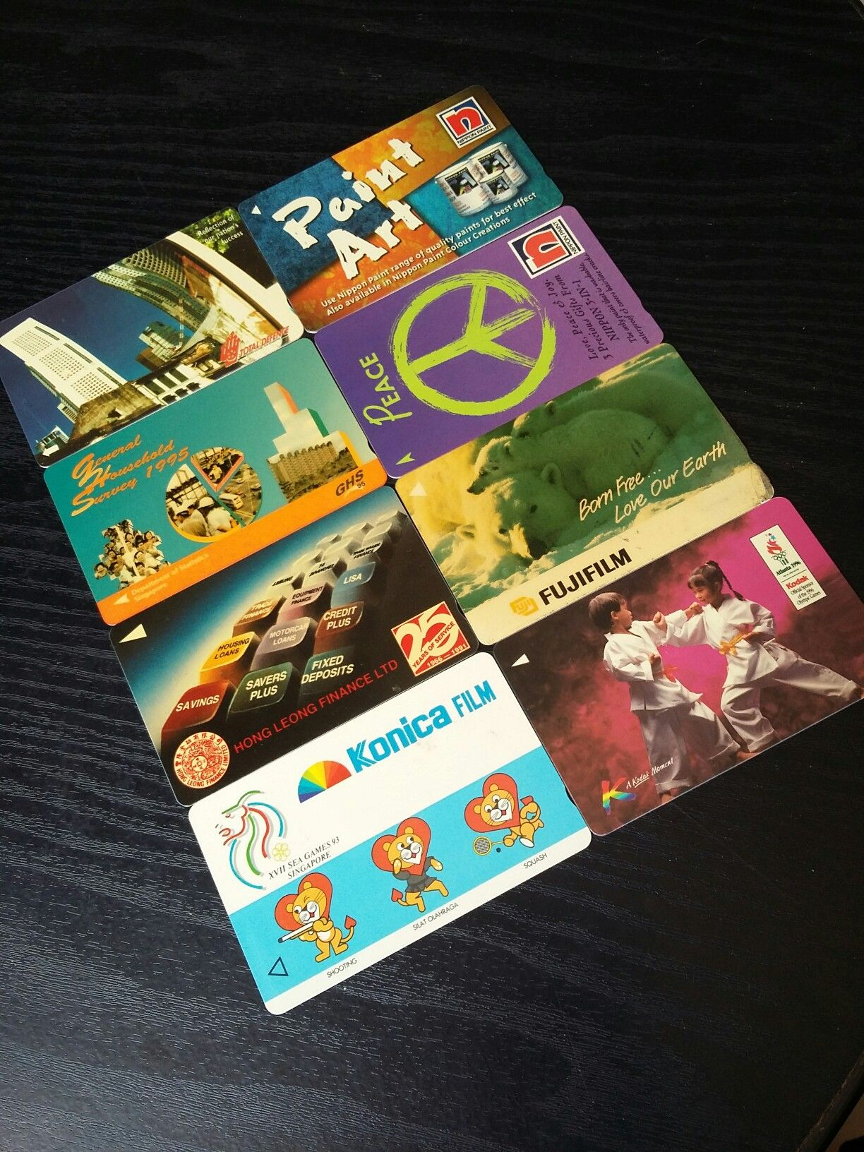 Public phone cards used in 80s - 90s | Singapore | Phone