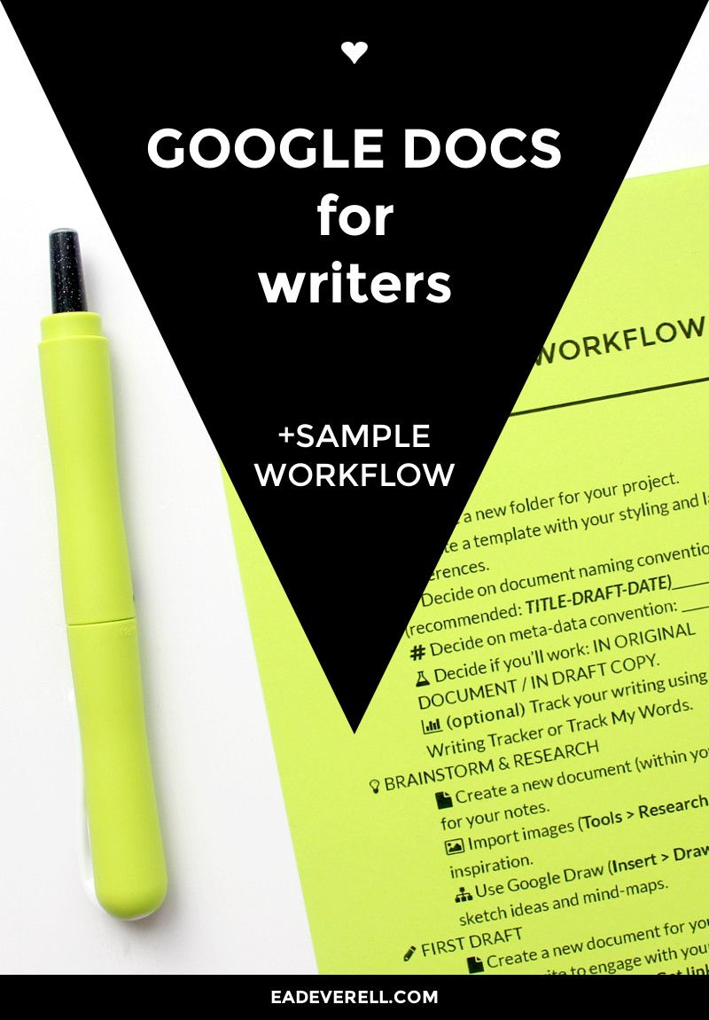 the ultimate guide to google docs for writers workflow video pdf checklist pinterest. Black Bedroom Furniture Sets. Home Design Ideas