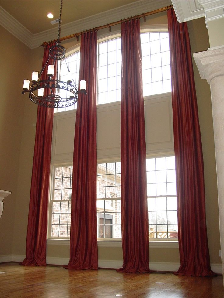 2 Story Curtains Two Story Curtains On A Rod Now To Find The