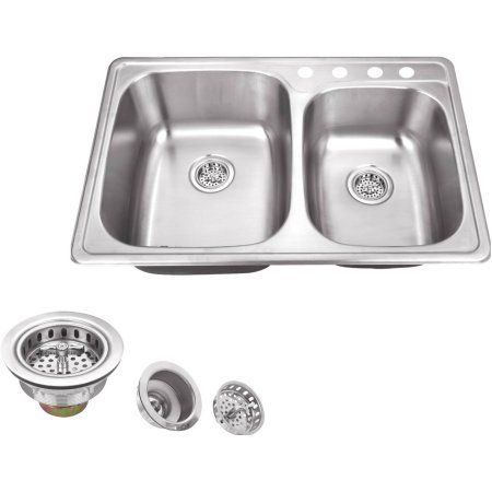 Home Improvement With Images Stainless Steel Double Bowl