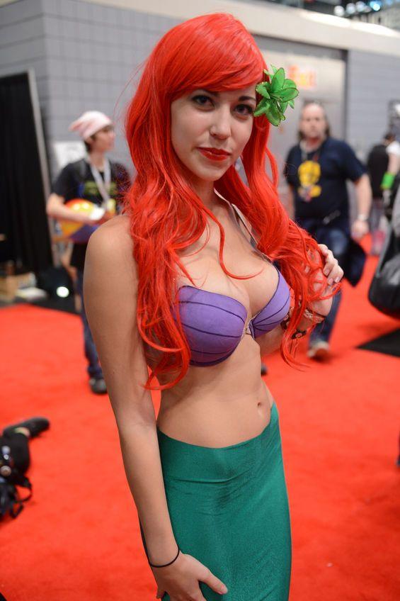 nude women in latex mermaid costume