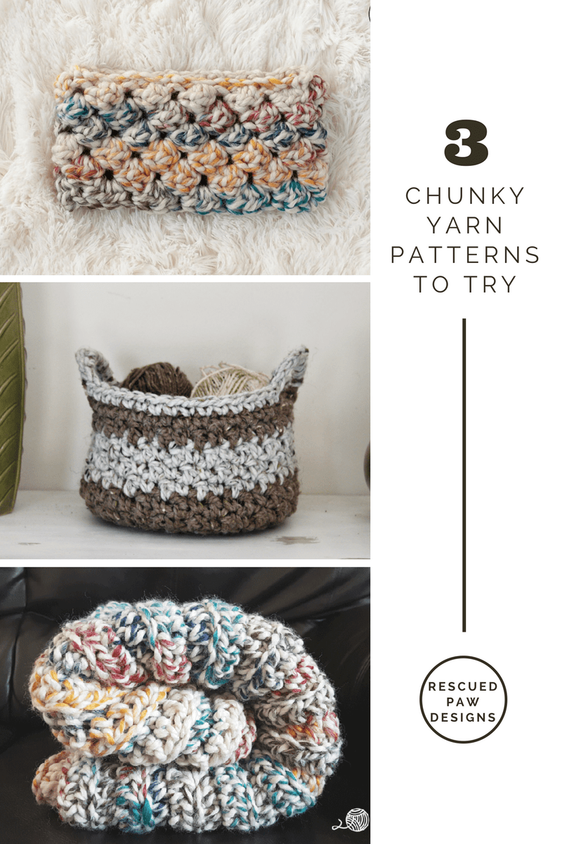 3 Chunky Yarn Patterns to Try for this Winter! | Pinterest | Crochet ...