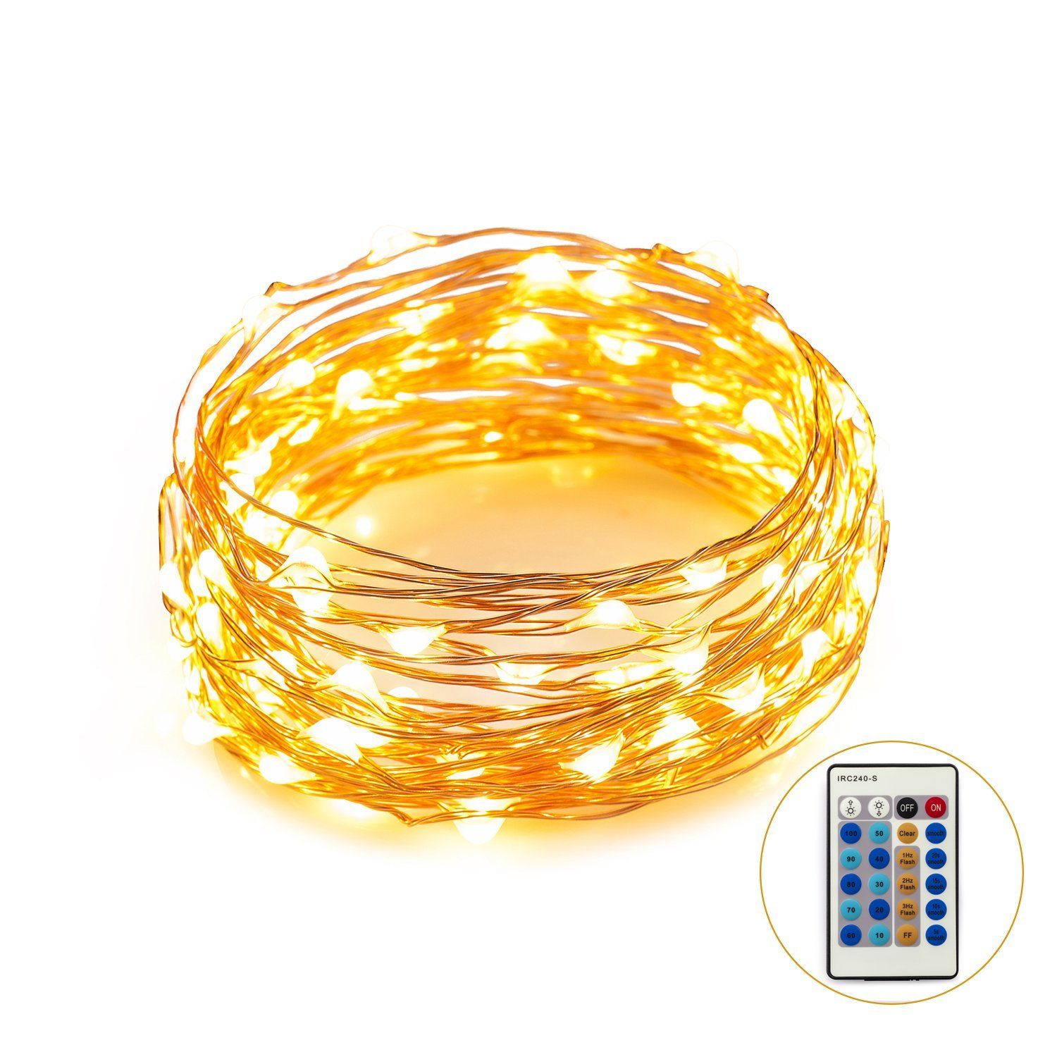 Weico Dimmable Led String Lights Copper Wire 100leds Warm White Strip 12v Dc Starry Light Rope For Gardens Homes Patio Wedding Dancing Party