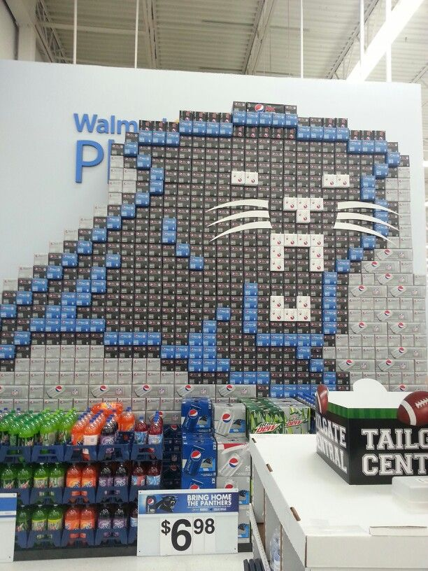 buy popular 84e3c c0b52 Pepsi store display of Carolina Panthers logo. | Carolina ...