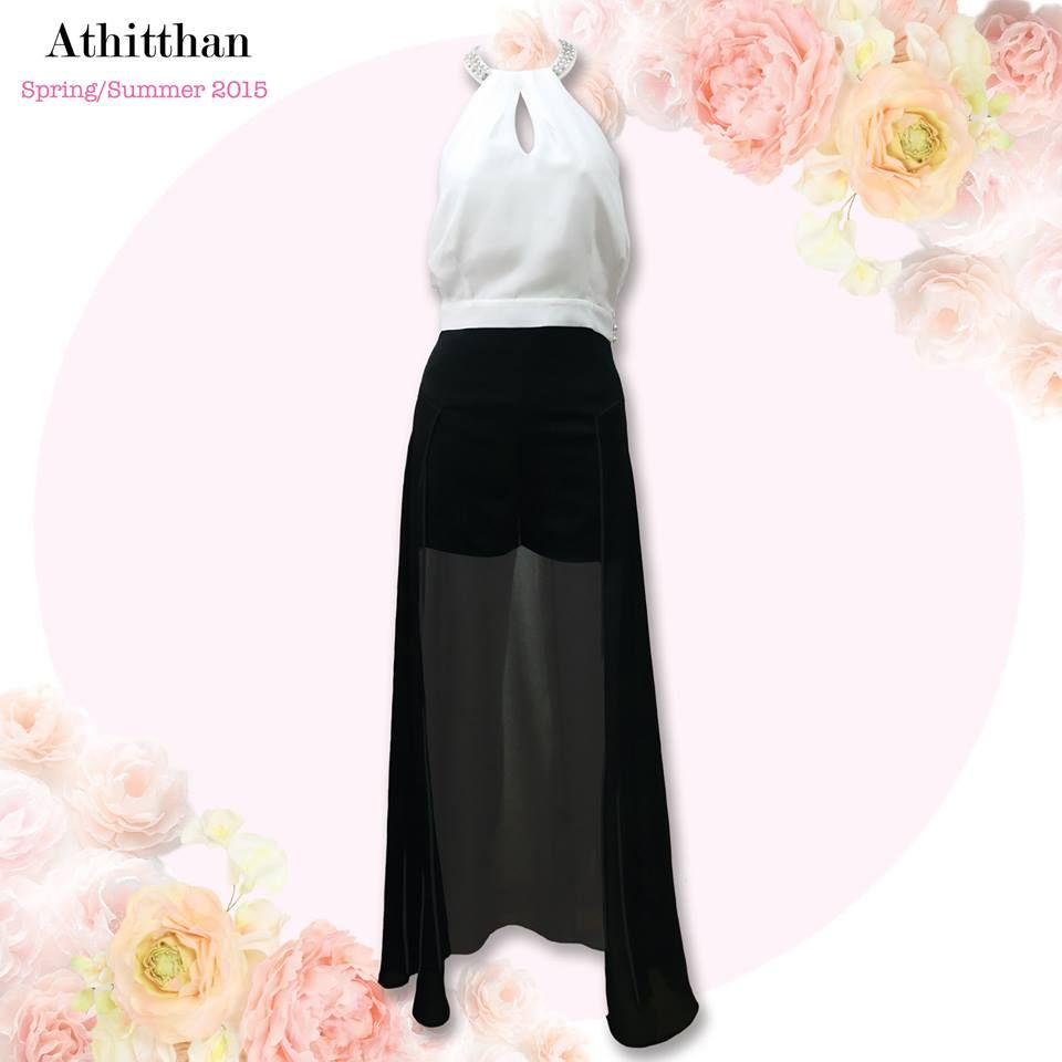 Calla Diamond Pearl Top with Tacca Charming Short Pants, Athitthan Spring/Summer Collection 2015