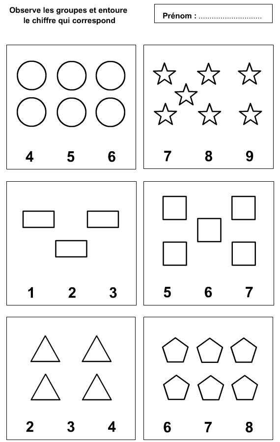 (2016-01) 3-7   math   Calcul, Apprendre à Compter, Chiffre