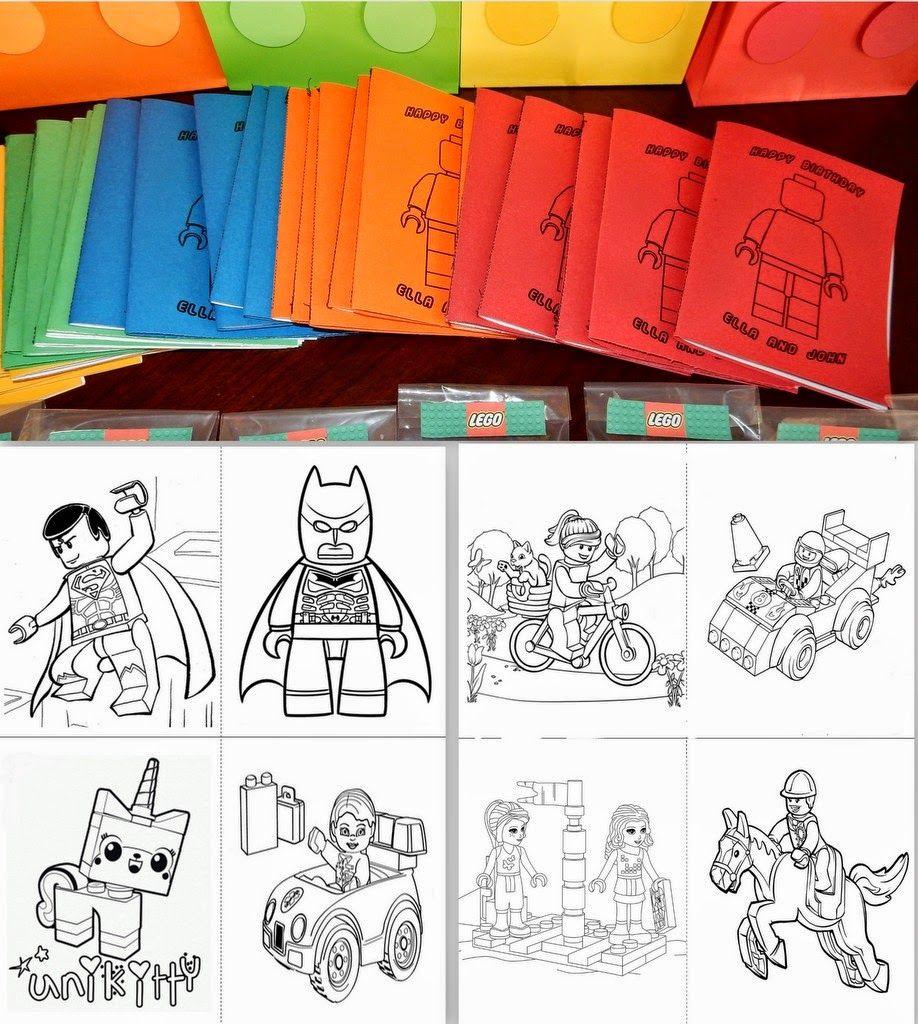 Lego coloring book printable - Lego Party Favor Coloring Book