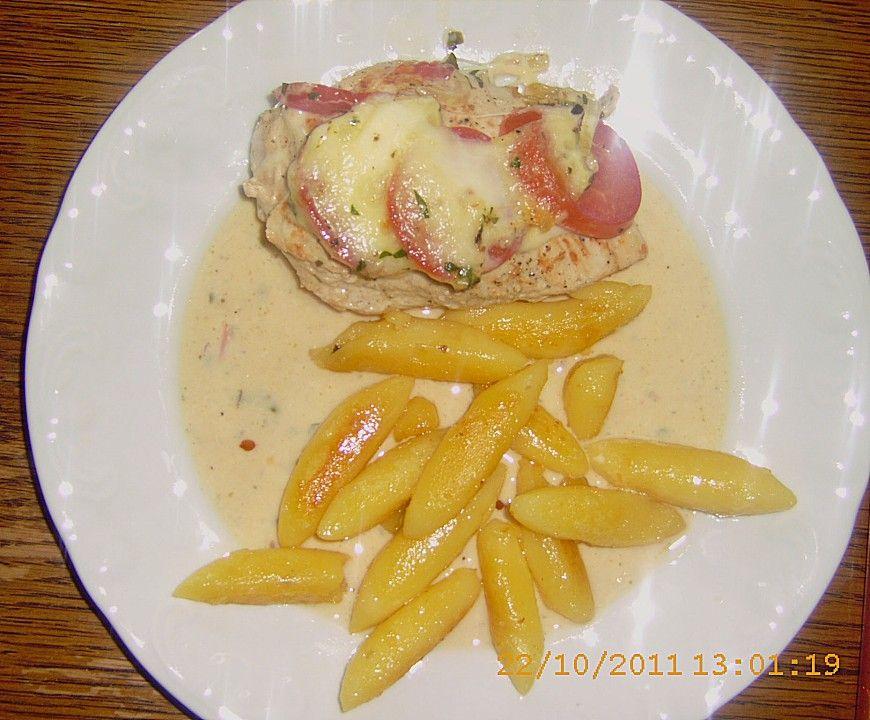Hähnchenbrustfilet mit Tomate und Mozzarella in Kräuter - Sahne - Sauce 23