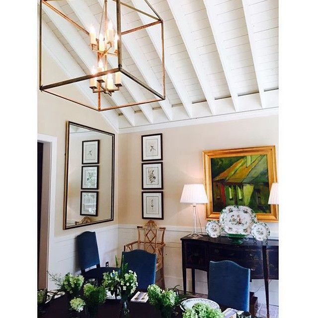 LOVE this shot my amazing architect @robertdnorris captured today at Farmdale... I couldn't feather this nest without an awesome plan! Thank you Robert and the #SpitzmillerandNorris team!!! #diningroom #interiordesign #farmerstyle #southernstyle #farmdalecottage #architecture #summertimeingeorgia Y'all come back soon!
