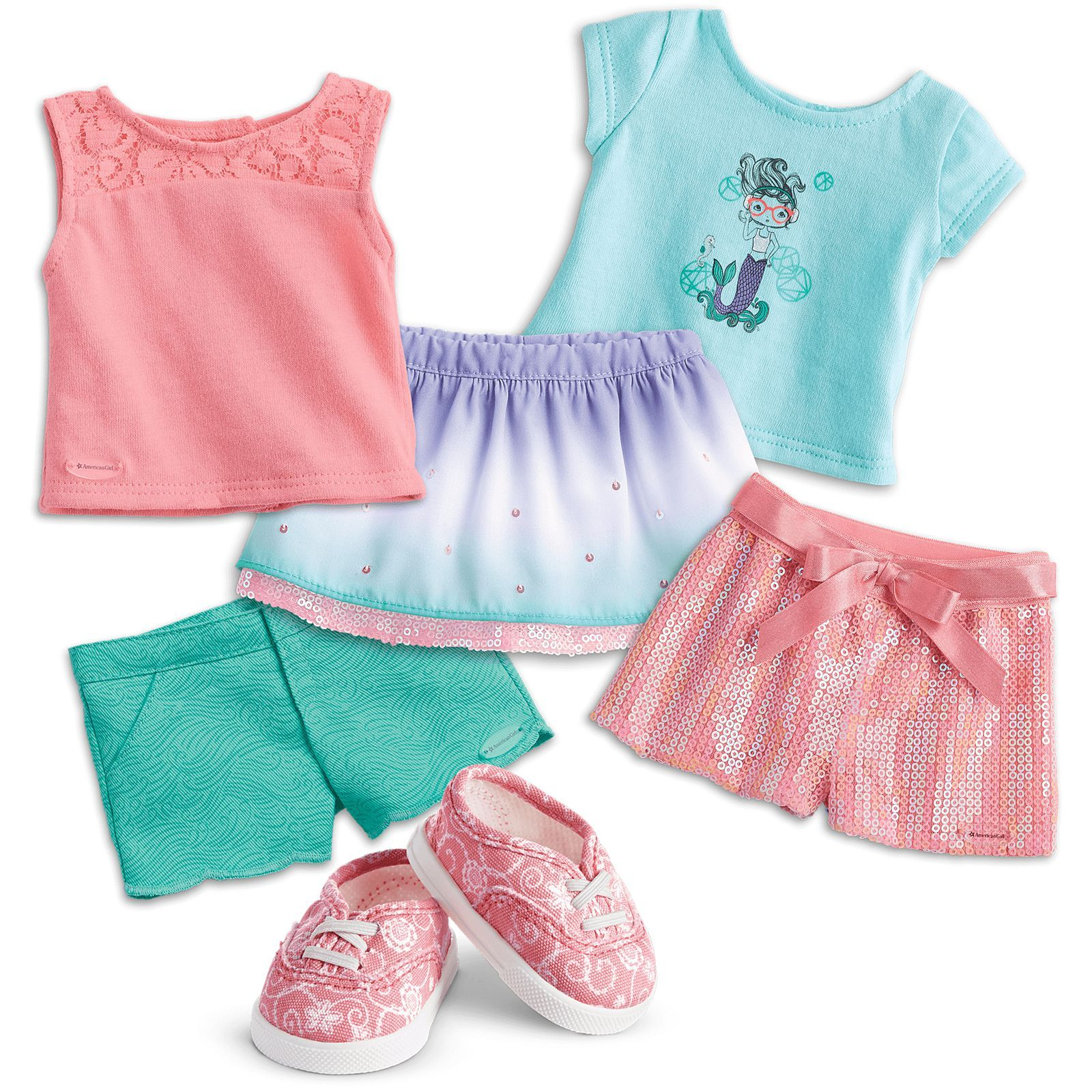 American Girl Luciana/'s Stellar Outfit Top Jacket Shorts Sneakers NEW in Box