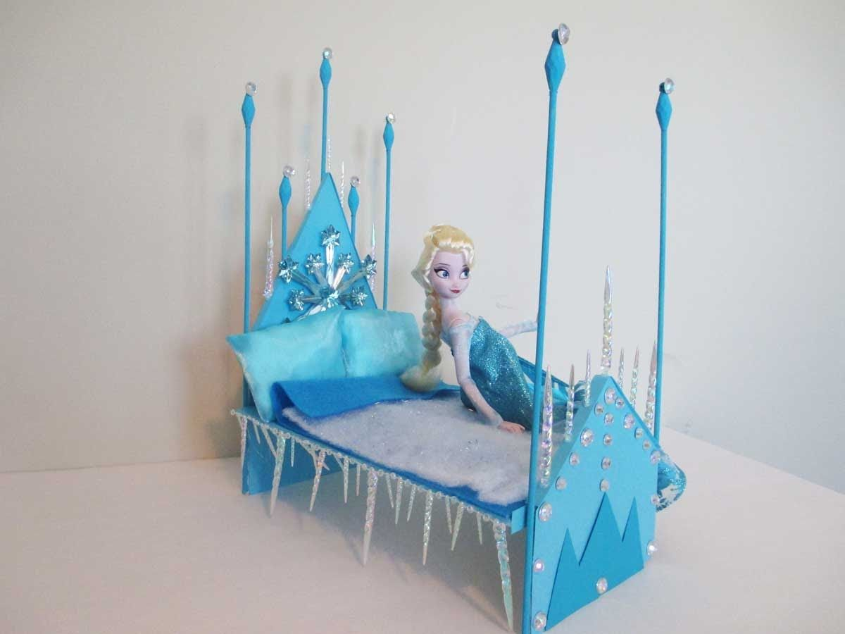 How to make a Elsa Doll Bed Tutorial/ Disney Frozen | Dolls ...