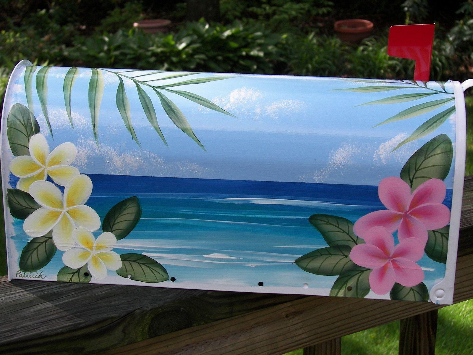 handpainted flag mailbox tropical